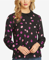 CeCe Collared Printed Blouse