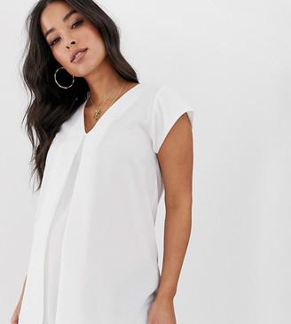 ASOS DESIGN Maternity v neck origami blouse