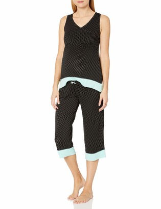 Lamaze Women's Maternity 2 Piece Tank and Capri Pant Set