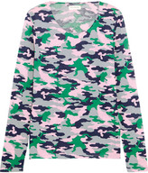 Chinti and Parker Camouflage-print Cotton-jersey Top - Forest green