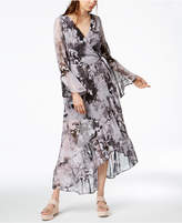 Bar III Asymmetrical Maxi Wrap Dress, Created for Macy's