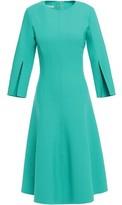 Oscar de la Renta Flared Wool-blend Dress