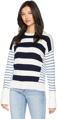 Joie Women's Kaylara Cocktail Stripe Cotton Sweater