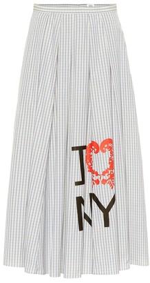 Rosie Assoulin Striped cotton midi skirt