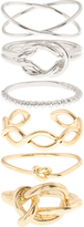 Accessorize Mixed Metal Knot Ring Set