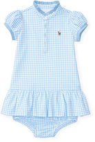 Ralph Lauren Girl Stretch Mesh Gingham Dress