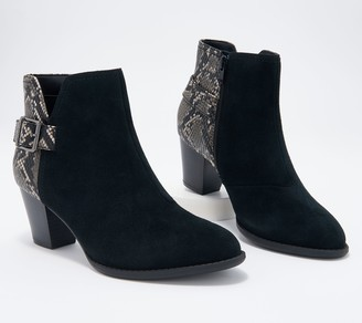 Vionic Suede Snake-Print Water-Resistant Boots - Naomi