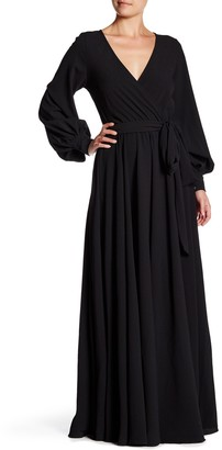Yumi Kim Long Sleeve Maxi Wrap Dress