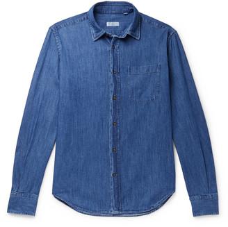 Incotex Ferrari Slim-Fit Melange Cotton Shirt