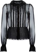 Dolce & Gabbana bib front sheer shirt
