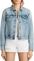 AllSaints Hay Denim Jacket in Mid Indigo