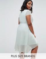 Koko Plus Skater Dress With Dip Back
