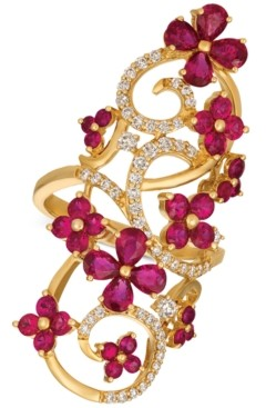 LeVian Le Vian Certified Passion Ruby (2-9/10 ct. t.w.) & Diamond (1/2 ct. t.w.) Ring in 14k Gold