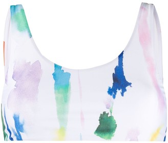 Être Cécile Watercolour Print Bikini Top