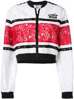 MSGM lace bomber jacket