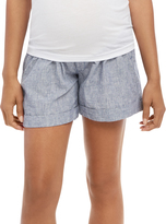 Motherhood Secret Fit Belly Railroad Stripe Maternity Shorts