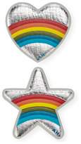 Anya Hindmarch Mini Star and Heart Rainbow Stickers for Handbag, Silver