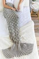 Shiraleah Grey Cozy Mermaid Blanket