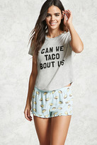 Forever 21 Can We Taco Bout Us PJ Set