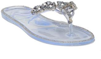 Wild Diva Lounge Joanie Crystal Cluster Thong Sandal