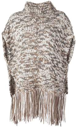 Brunello Cucinelli fringed knit top