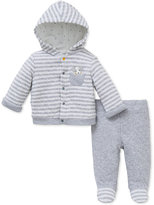 Little Me Baby Boys' 2-Pc. Peeping Puppy Hoodie & Footed Pants Set