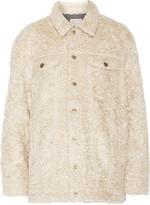 Current/Elliott The Teddy Trucker faux shearling jacket