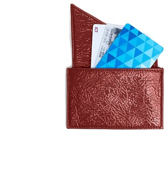 Insider Card Holder Wallet In Red Patent Leather