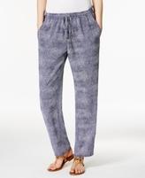 MICHAEL Michael Kors Petite Zephyr Printed Soft Pants