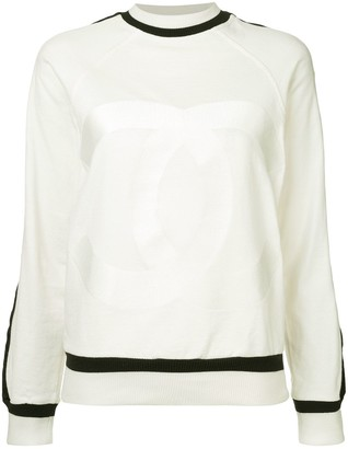 Chanel Pre Owned Contrast Trim Sweater