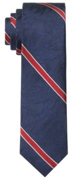 Tommy Hilfiger Men's Slim Palm Jacquard Stripe Tie