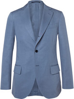 Mp Massimo Piombo - Blue Slim-fit Cotton And Linen-blend Twill Suit Jacket