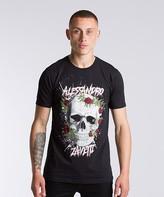 Alessandro Zavetti Bolleli Skull Rose T-Shirt