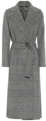 S Max Mara Fiorito checked virgin wool coat