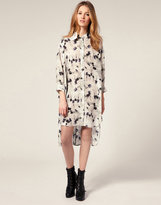 Shirt Dress In Light Bulb Print