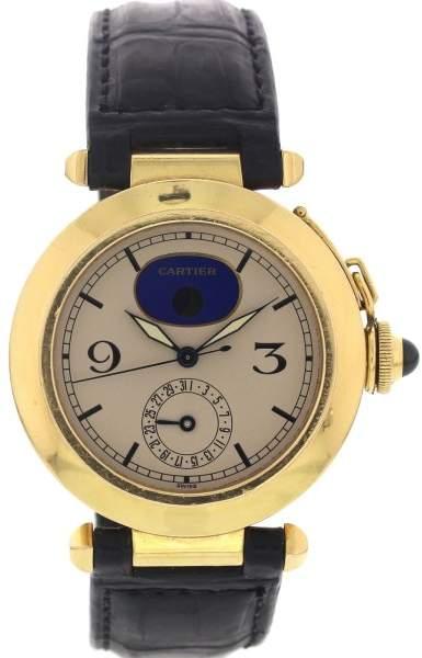 Cartier De Pasha 30001 Moonphase 18K Gold Mens Watch