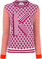 Kenzo K geometric intarsia jumper - women - Cotton/Wool - S