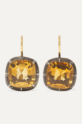 Fred Leighton Collection 18-karat Gold And Sterling Silver Citrine Earrings