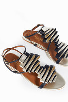 Malone Souliers Audrey Pleated-Leather Sandals