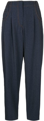 Giorgio Armani High-Waisted Pleated Trousers