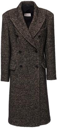 Maison Margiela Wool Blend Double Breast Long Coat