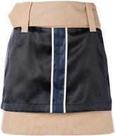 Opening Ceremony silk panel mini skirt - women - Cotton/Polyester/Bemberg - 4