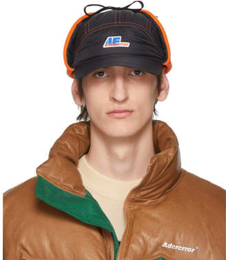 ADER error Black Truck Logo Ear Flap Cap