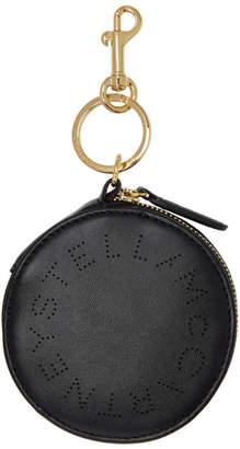 Stella McCartney Black Eco Soft Round Purse Keychain