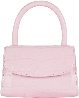 BY FAR Mini Croc-Embossed Leather Bag