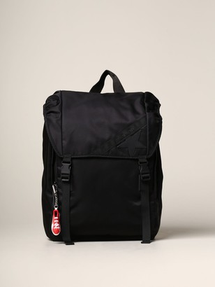 Golden Goose Nylon Backpack With Leather Star