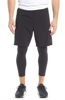 adidas Men's 'Team Issue' 2-In-1 Running Tights & Shorts