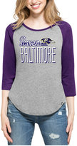 '47 Women's Baltimore Ravens Club Block Raglan T-Shirt