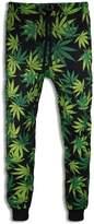 Trening Apparel Men Wee Joggers Black Green Pants Fleece Elastic Waist Stretch Jogger Trousers (XL, )