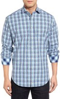 Thomas Dean Regular Fit Jacquard Check Sport Shirt